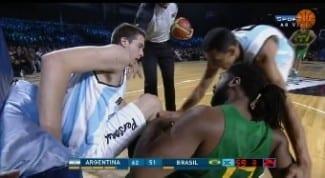 Argentina gana a Brasil en un amistoso: matazos de Nené y Herrmann. ¿Tu favorito? (Vídeo)