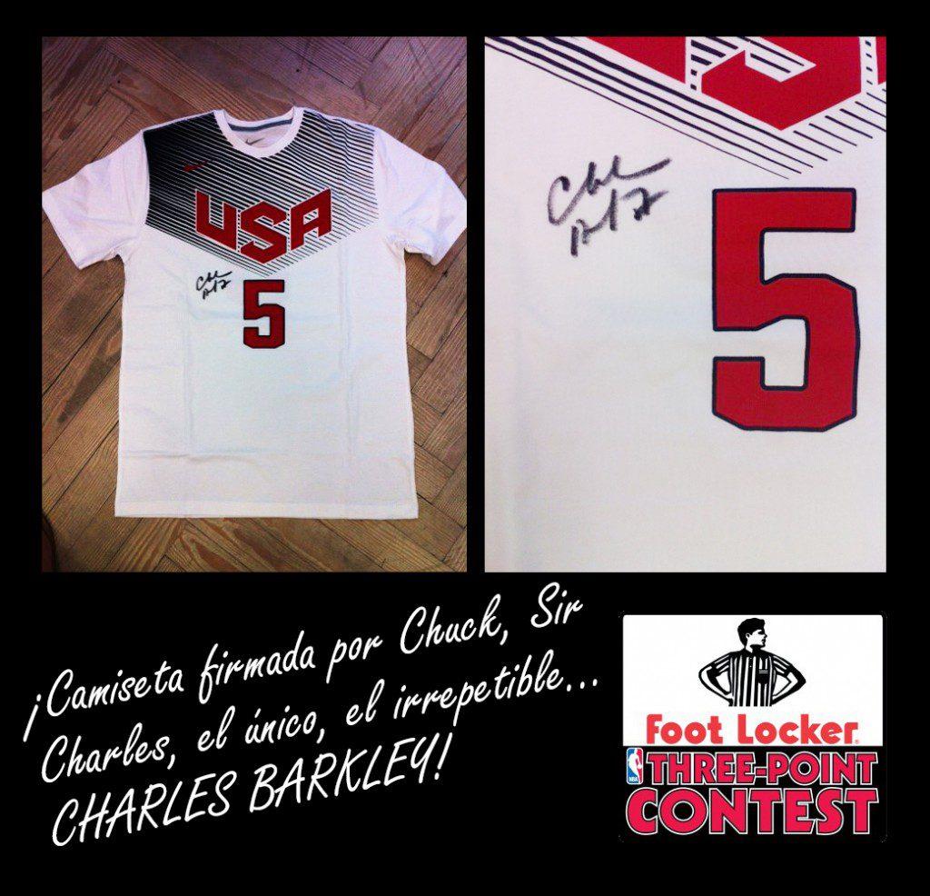 Ya tenemos ganador de la camiseta firmada por Barkley de Foot Locker. ¿Eres el afortunado?