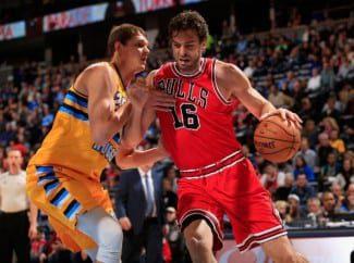 Pau Gasol comprueba como Denver es la cancha maldita de los Bulls. ¡Llevan ocho años sin ganar allí!