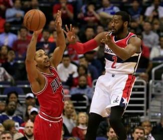 Derrick Rose, on fire. Gran duelo con John Wall en la victoria de los Bulls en D.C.