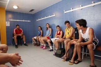 Charla de vestuario de Felipe Reyes a los mayores del Campus 2014