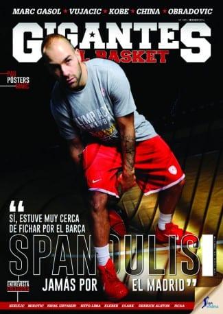 Spanoulis, protagonista de portada de la revista Gigantes de diciembre. ¡A la venta!
