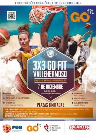 Baloncesto 3×3 en Go Fit Vallehermoso con la presencia de Gigantes del Basket