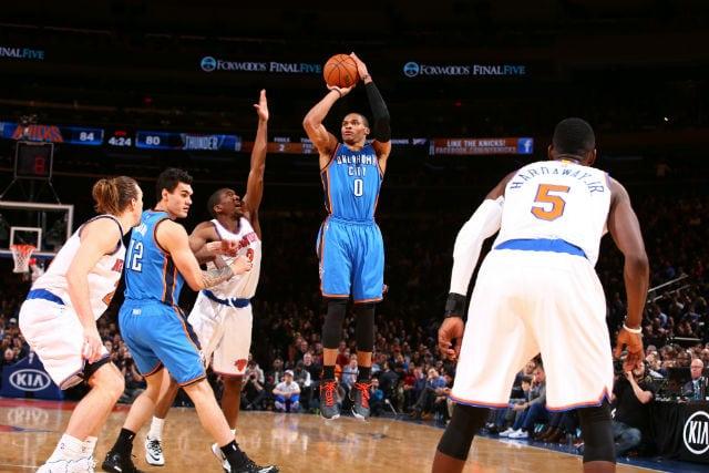 Ni los 40 puntos de Westbrook evitan la derrota de los Thunder (Vídeo)