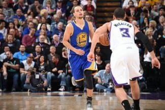 Los Warriors, lanzados. Meten 121 puntos a los Kings. Stephen Curry, imparable (Vídeo)