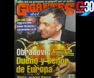 Zeljko Obradovic, dueño y señor de Europa. PAO, cuarto equipo al que hizo campeón