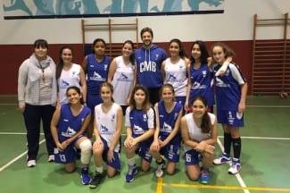 El infantil femenino se entrena con Eric Sánchez. Club Melilla Baloncesto