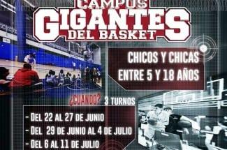 Reserva ya tu plaza para el Campus Gigantes. ¡Mejora tu basket y diviértete!