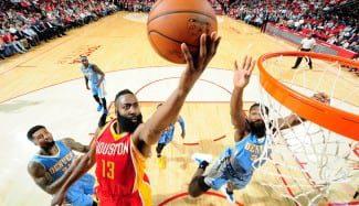 ¿Harden MVP? mete 50 puntos a los Nuggets, su récord en la NBA (Vídeo)