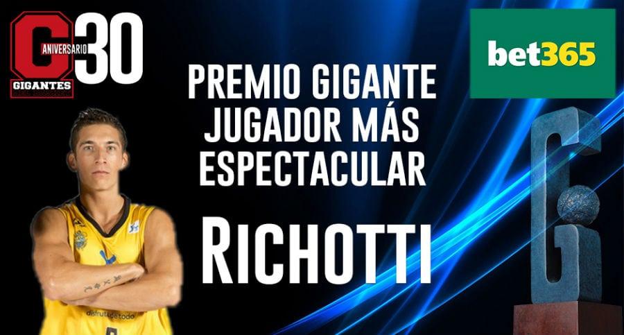 Richotti, del Iberostar Tenerife, premio Gigantes a Jugador Más Espectacular