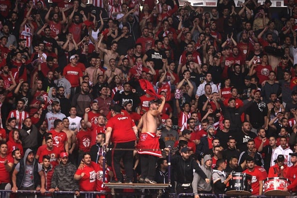Revelador. Sólo 100 seguidores de Olympiacos compraron entradas para la F4