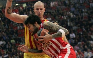 Triplazo de Printezis para meter al Olympiacos en la F4 y eliminar al Barça