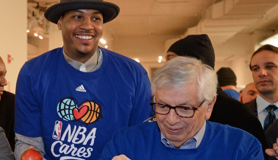 No se olvida de la NBA. David Stern invierte en una casa de apuestas junto a Carmelo