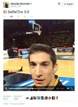 selfie-tiro Richotti