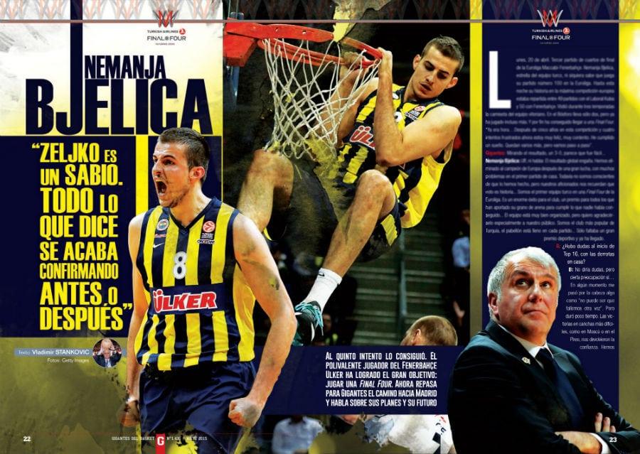 """Bjelica (MVP Euroleague), rival del Madrid en la F4, en Gigantes """"Son favoritos"""""""