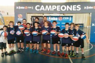 Los Pistons, campeones de la #JrNBAFEB en Barcelona. ¡Qué calidad del colegio Manyanet Mollins!