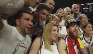 Así celebraron los familiares de los jugadores del Madrid la Euroliga (Vídeo)
