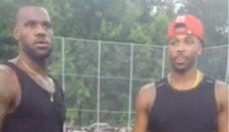 Cambian las manos por los pies. LeBron y Durant se marcan una pachanga de kickball (Vídeo)