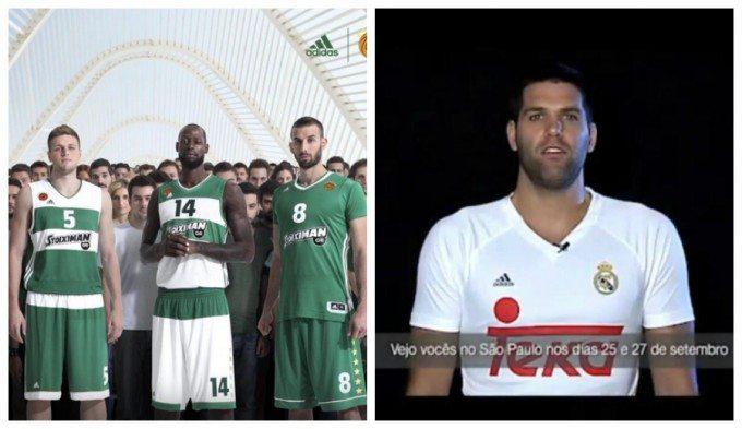 Real Madrid y Panathinaikos en basquet lucirán camisetas con mangas este año