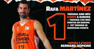 Histórico Rafa Martínez: supera a Hopkins como máximo anotador del Valencia en Europa