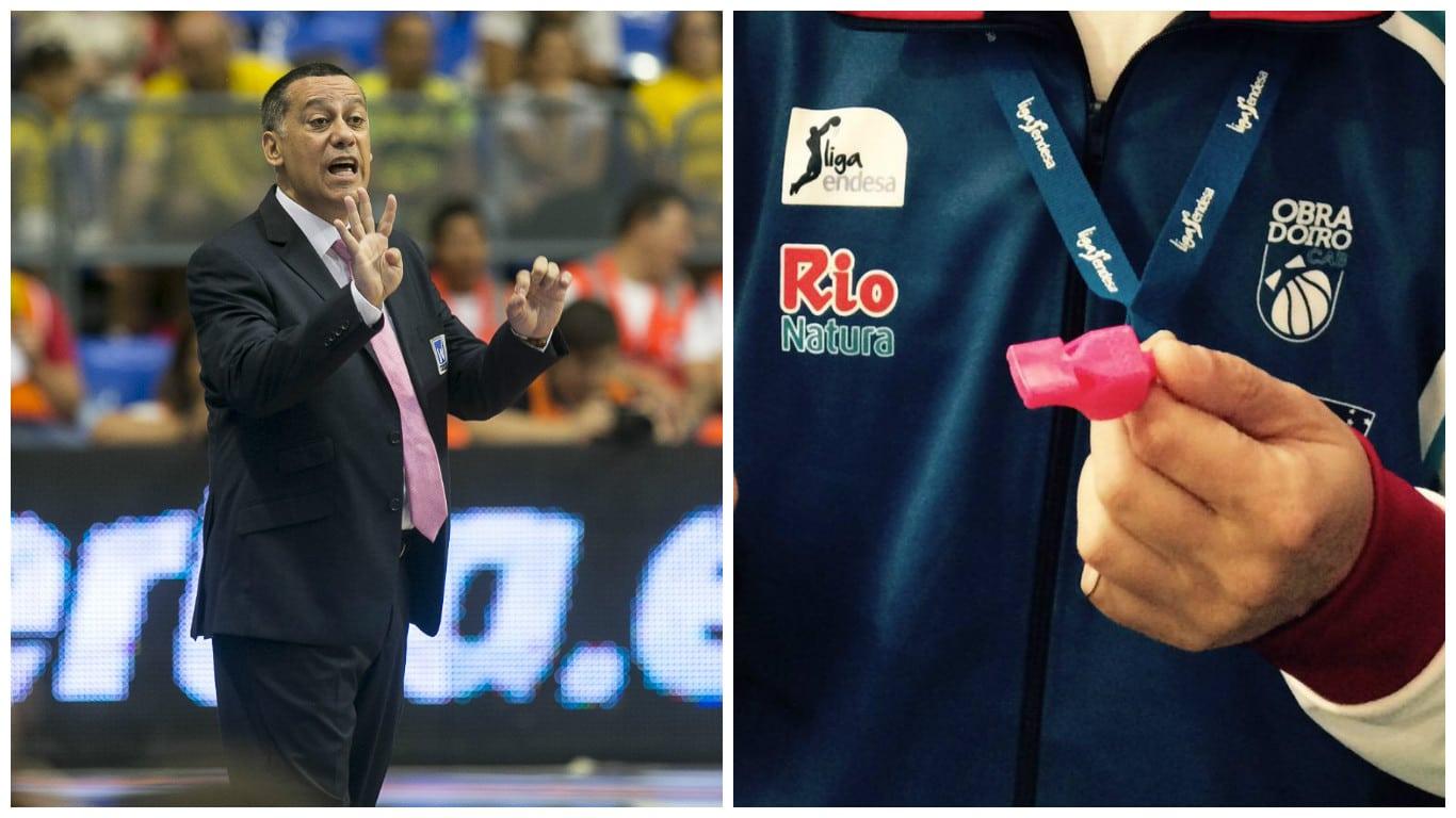 Contra el cáncer de mama: Alejandro Martínez regala silbatos rosas a todos los entrenadores ACB