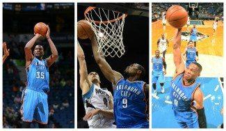 ¡Durant e Ibaka vuelven! Anotan 33 puntos entre ambos y Westbrook roza el triple-doble