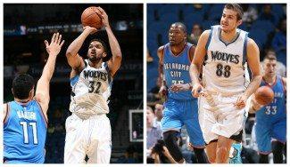 Los rookies Towns (18 puntos) y Bjelica (11) toman el mando de los Wolves en su debut