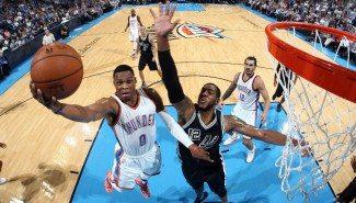Los Thunder asustan. Westbrook y Durant machacan a los Spurs con 55 puntos entre ambos (Vídeo)