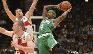 Atentos a la rueda de los Celtics. No te pierdas los brincos de Isaiah Thomas con 1,75 m. (Vídeo)