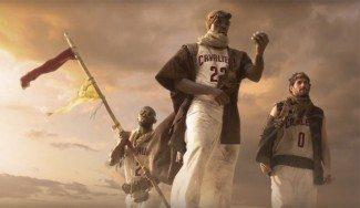 Espectacular. La TNT promociona la temporada NBA con la travesía en el desierto de LeBron