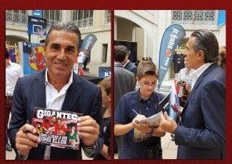 El Campeón de Europa y nuevo 'Gigante Junior', entrevistado por un niño