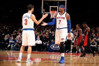 Los Knicks, concienciados. Melo: «Tenemos la oportunidad de escribir nuestra propia historia»
