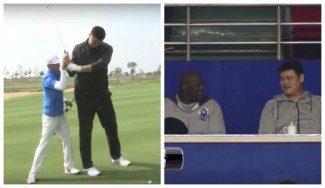 La nueva vida de Yao Ming: vacilando en el palco con Shaq y jugando al golf (Vídeos)