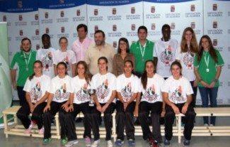 Las subcampeonas cadetes de Andalucía, recibidas en Almería. Como premio, cinco convocadas en selección