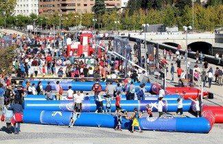 Los festivos se aprovechan en Madrid. Más de 1.000 jugadores en el 3×3 Puente del Rey