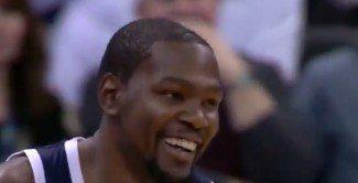 La sonrisa del 'jugón'. Durant vuelve en plan MVP y los Thunder arrollan a los Jazz (Video)
