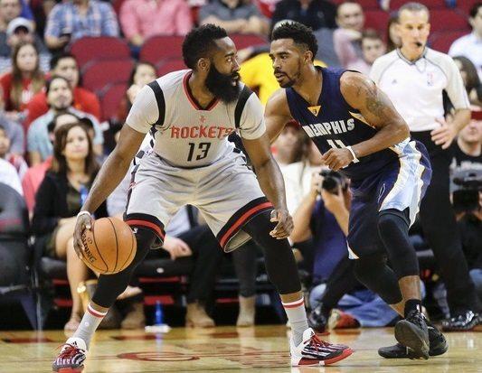 Barba recortada. Memphis toma Houston pese a los 40 puntos de Harden (Vídeo)