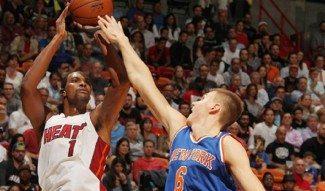 Los Heat ponen freno a la euforia neoyorquina. Porzingis ganó su duelo a Whiteside (Vídeo)