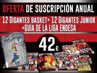 ¡Oferta, oferta! Suscripción anual Gigantes por 42€… con la Guía Oficial Liga Endesa de regalo