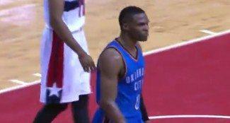 Tres en uno. Triple doble de Westbrook, susto de Durant y vuelve el Ibaka tirador (Vídeo)