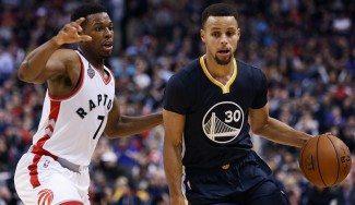 En Toronto, como en casa. Curry tumba a los Raptors con 44 puntos. ¡Nueve triples! (Vídeo)