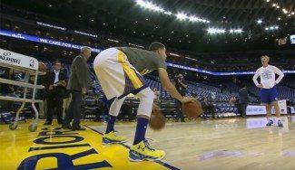 El ritual para ser imparable. Mira cómo prepara Curry cada partido (Vídeo)