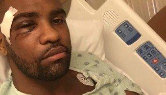 """Aaron Jackson, operado durante 5 horas de sus fracturas en la cara: """"Irrompible"""""""