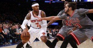 Agotados y sin Pau, los Bulls caen en el Madison. Melo, imparable (Vídeo)