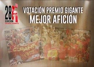 Escoge el Premio Gigante a la mejor afición. ¡Vota aquí!