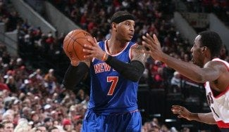 Los Knicks rompen en Portland su mala racha. Melo mete sus puntos y los de Porzingis