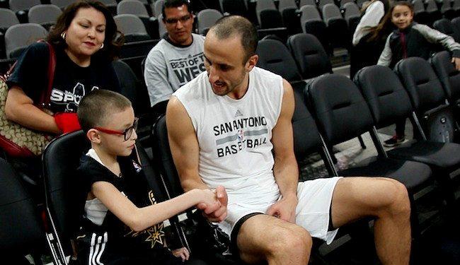 Esto sólo pasa en la NBA: Manu conoce a un niño de 10 años que se llama… ¡Ginobili!