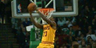 Matazo de LeBron para culminar un 0-12 y hundir a los Celtics en el Garden (Vídeo)