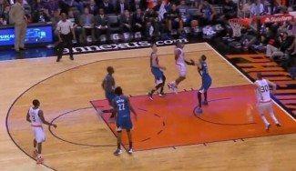 Los Suns se lo pasan bien con los Wolves: se inventan el alley-oop ¡doble! (Vídeo)
