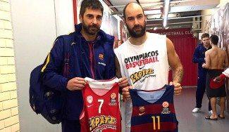 Vaya fenómeno: Spanoulis le pide a Navarro cambiarse las camisetas y una foto